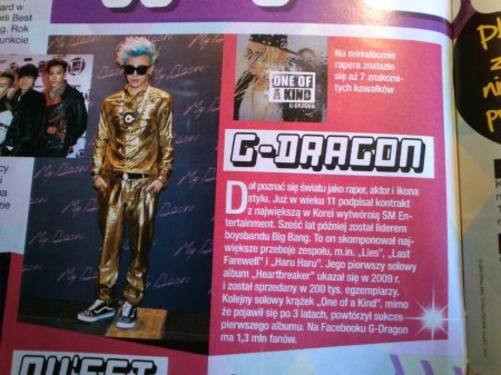 G-dragon w gazecie